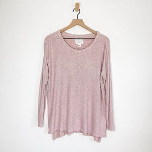 Velvet for Anthro Ribbed Top Pink